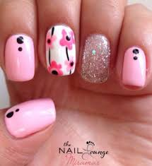 new and latest nail art designs and ideas for girls pink glitter