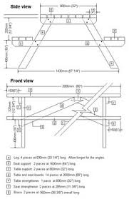 Plans For A Wood Picnic Table by How To Build A Picnic Table With Attached Benches Picnic Tables