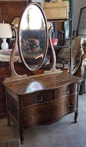 Antique Tiger Oak Dresser With Mirror by C1900 Serpentine Dresser With Oval Mirror Sherwood Faux Tiger