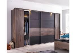 Schlafzimmerschrank Mit Aufbauservice Kleiderschrank Schlammeiche Schwarzeiche Mit Schwebe Und