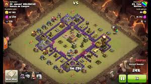 coc valencia map coc level 3 funnel against th8 3