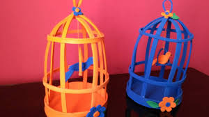 diy home decor how to make bird cages out of foam sheets