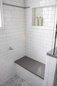 Light Gray Bathroom Tile Tile Shower Bathroom 12 Chic We Chose Shiny White Subway With