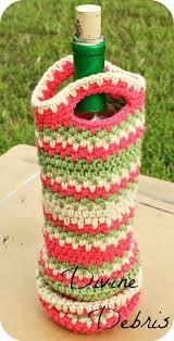 pattern for wine bottle holder willow wine bottle cozy free crochet pattern by divinedebris com