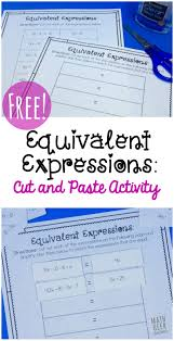 simple equivalent expressions activity free