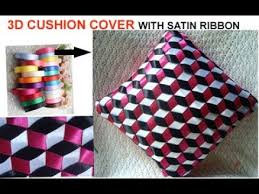 3d cushion cover pillow cover with satin ribbon best out of