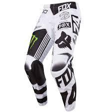 monster energy motocross helmets fox mx pants 180 monster pro circuit white black green limited