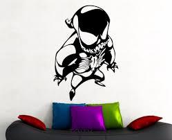 online get cheap spiderman room decoration aliexpress com venom cartoon sticker spiderman wall decal marvel comics creative art vinyl art nursery home kids room decor removable mural