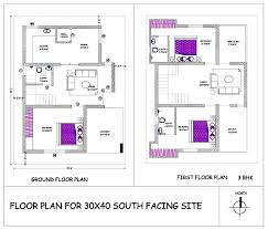 floor plan for 30x40 site 30 40 house plans north facing site plan north series duplex house