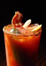 organic bloody mix dill pickle vodka and zing zang bloody mix with ground pepper