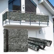balkon sichtschutz balkon sichtschutz 600x75cm balkonsichtschutz balkonverkleidung