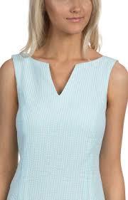 lauren james avery seersucker shift dress in mint stripe pcsp164