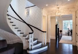 Modern Stair Handrails Contemporary Stair Railing Staircase Contemporary With Dark