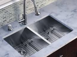 faucet amazing square silver stainless steel double kitchen sink