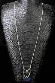 simple silver pendant necklace images Long simple silver necklace with blue pendant long silver necklaces jpg