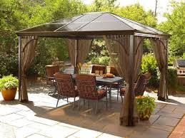 Wood Gazebo Design by Patio 60 Appealing Patio Design With Cream Hardtop Gazebo And