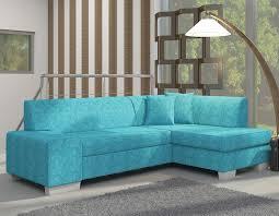 canape d angle bleu canapé d angle convertible 4 places en tissu bleu avec coffre
