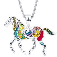 wholesale animal necklace images Wholesale horse necklace 12x pack helping animals at risk jpg