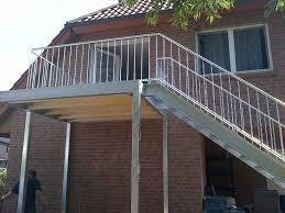 balkon mit treppe balkone und geländer bauschlosserei schlump