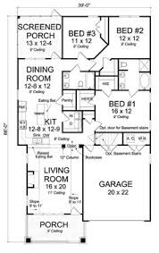 floor plans craftsman cottage country craftsman southern house plan 75280 level one