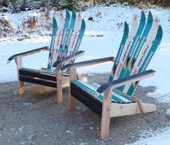 How To Build An Adirondack Chair Custom Adirondack Ski Chairs Of Lake Placid