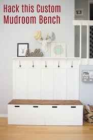 ikea bench how to hack an ikea bench into a custom mudroom bench