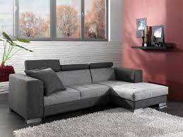 basika canapé canapé convertible à droite gris foncé gris clair et