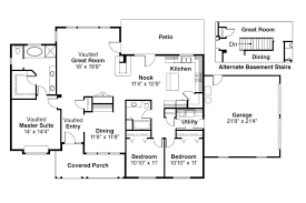 open floor plans with large kitchens house plans kitchen in front craftsman style house plan 3 beds baths