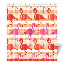 Flamingo Shower Curtains Flamingo Shower Curtains European Style Waterproof Bath Curtain