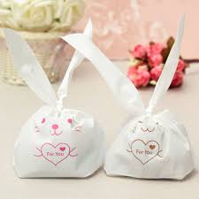 10pcs rabbit gift bag diy bunny party wedding sweet biscuit