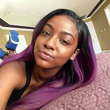 ombre weave ombre hair two tone colored 1b purple 100 human hair