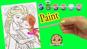 disney frozen coloring paint painting queen elsa u0026 sister