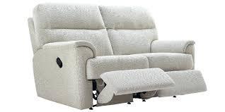 Recliner Fabric Sofa Stanbury 2 Seater Future Fabric Power Recliner Sofa