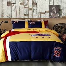 Nba Bed Set Cleveland Cavaliers Bedding Set Lebron Nba Size
