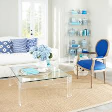 clear coffee table for contemporary decoration style
