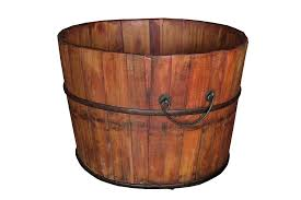 amazon com antique revival gota wooden bucket natural