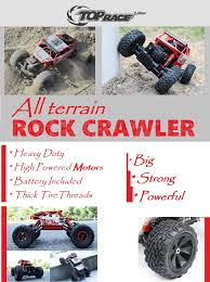 monster truck rc racing amazon com top race remote control monster truck rc rock crawler
