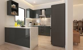 u shaped kitchen designs with breakfast bar under cabinet range