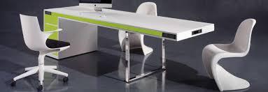 Meuble De Bureau Design Bureau Simple Blanc Lepolyglotte Meubles De Bureau Design
