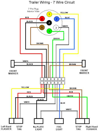 trailer wiring diagram for 4 way 5 way 6 way and 7 way circuits