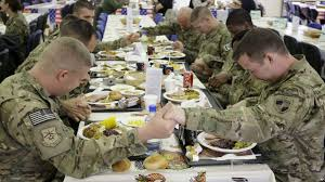us troops in afghanistan celebrate thanksgiving
