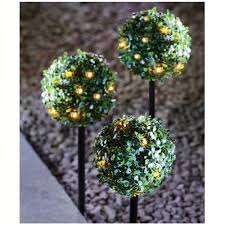 Light Up Topiary Balls - 3x artificial led topiary ball boxus boxwood hanging garden solar
