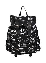 nightmare before skellington slouch backpack new