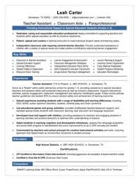 Early Childhood Assistant Resume Sample by Teacher Aide Resume Example For Betty She Is A Mom Who Had