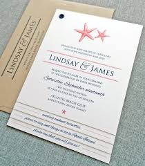 lindsay coral starfish booklet wedding invitation sample 2431662