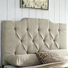 Fabric King Headboard King Upholstered Headboard Tufted Ivory King King Size Upholstered