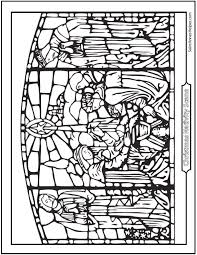 bold idea stained glass coloring pages free coloring pages