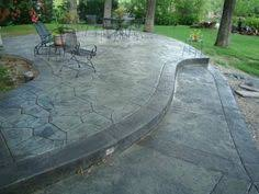 Textured Concrete Patio by Stamped Concrete Patio Large Ashlar Slate Stamped Concrete
