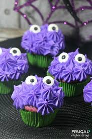 halloweeny monster cupcakes recipe monster cupcakes frugal