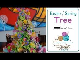 Easter Decorations To Crochet by How To Crochet Easter Spring Topiary Trees Youtube